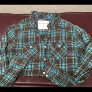 Aeropostale long sleeve flannel looking shirt.